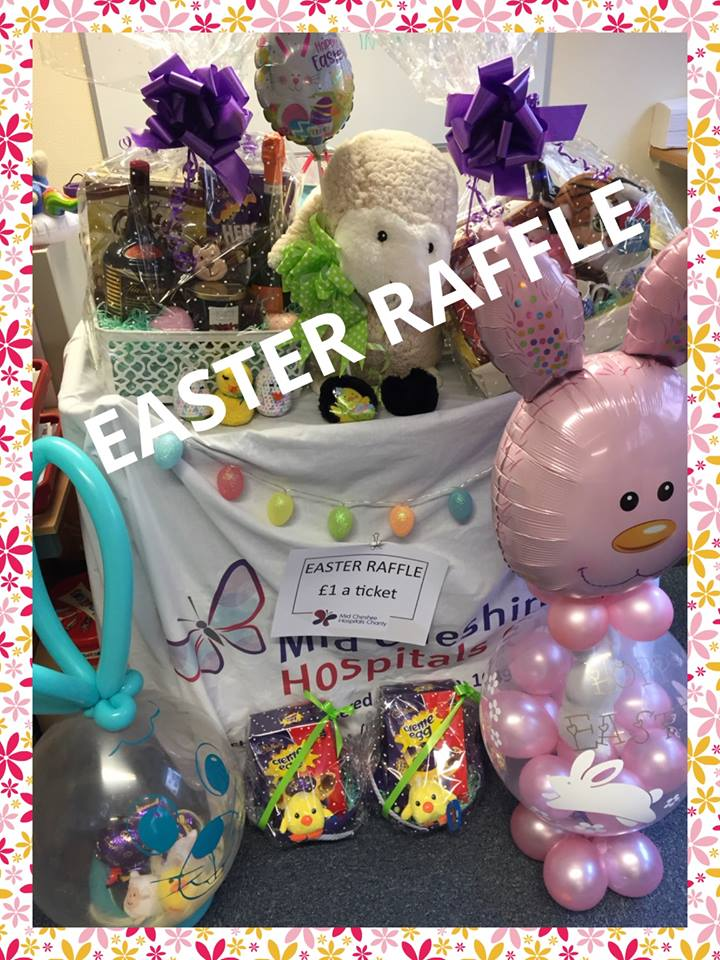 Easter Raffle at Mid Cheshire Hospitals Charity