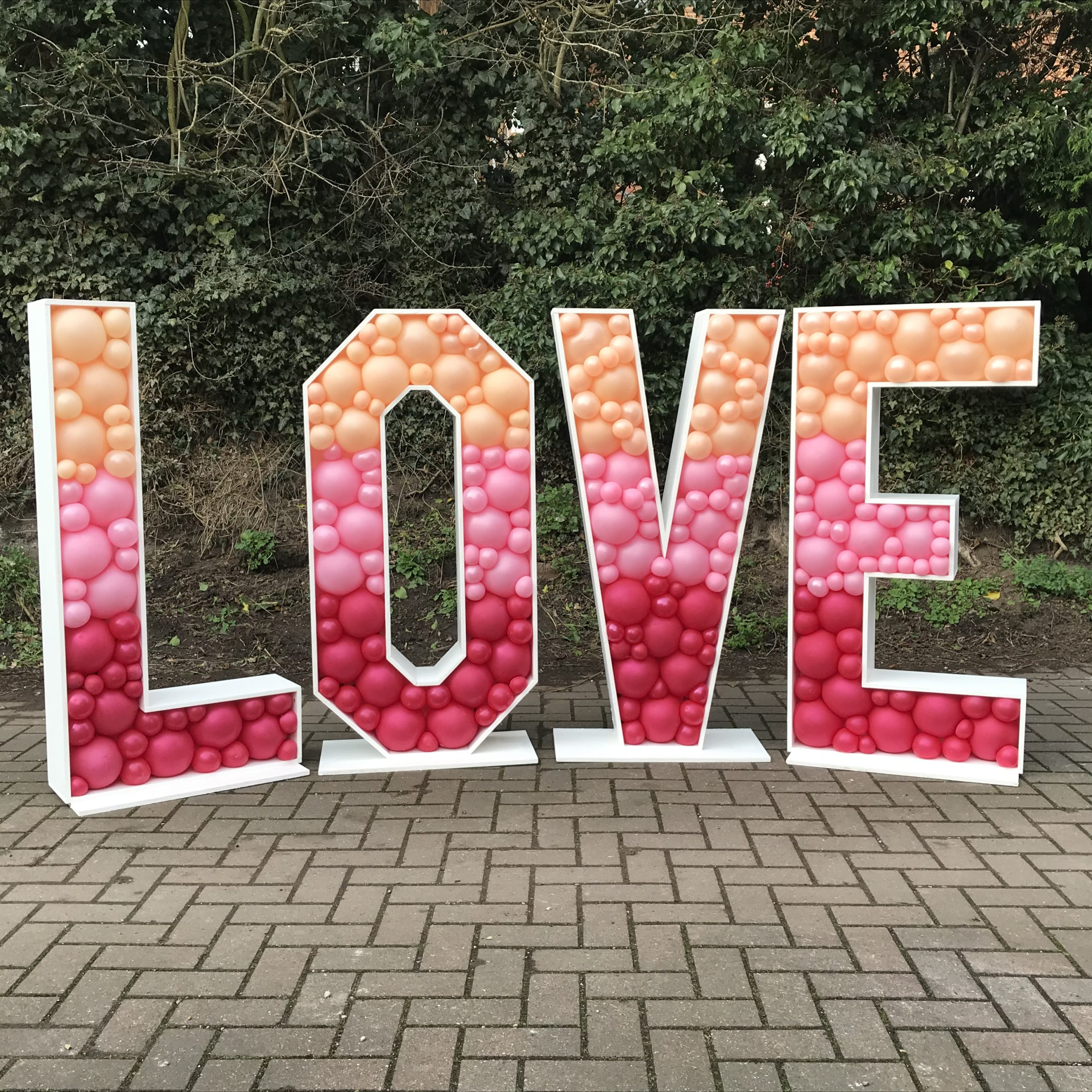 Balloon filled LOVE letters